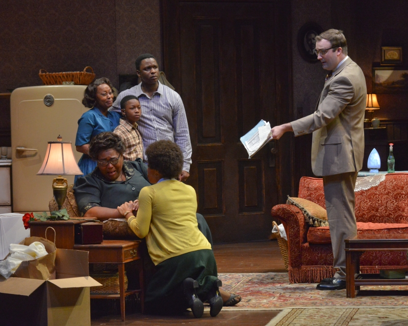 DTC's A Raisin in the Sun - Ptosha Storey, Christopher Adkins, Bowman Wright, Liz Mikel, Tiffany Hobbs, Steven Michael Walters - by Karen Almond